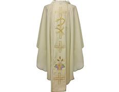 Casulla en los cuatro colores litúrgicos | Poliéster blanco