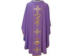 Casulla en los cuatro colores litúrgicos | Poliéster morado