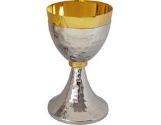 Cáliz sagrado acabado plateado y dorado