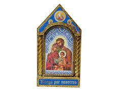 Cuadro icono bizantino de la Sagrada Familia
