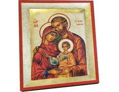 Icono bizantino Sagrada Familia | 13 x 10,5 cm.