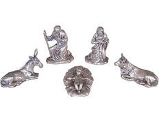 Belén con figuras de metal | 3 cm.