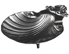 Concha bautismal de metal niquelado