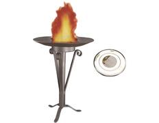 Soporte, disco y plato de Fuego Santo para Pascua