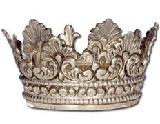 Corona de plata con aro de 5 cm de diámetro