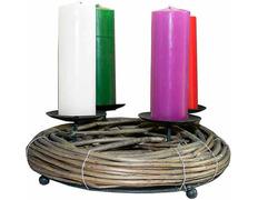 Corona de Adviento con cuatro velas