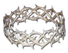 Corona de espinas en plata de ley