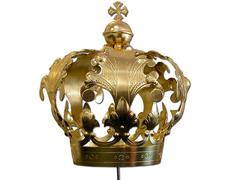 Corona Imperial con Cruz baño dorado