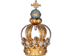 Corona para Virgen de Fátima en plata