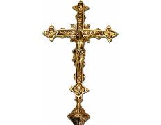 Cruz parroquial de bronce | Cuatro Evangelistas