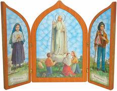 Cuadro Virgen de Fátima - Tríptico de las apariciones
