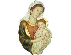 Cuadro en relieve - Virgen María con Niño