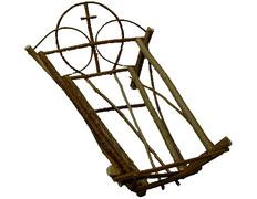 Cuna artesanal de madera para Niño Jesús