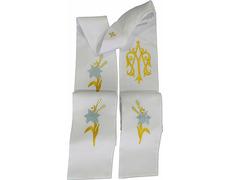 Estolón de poliéster con insignia mariana bordada (AM)