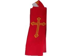 Estola con Cruz bordada | Cuatro colores rojo