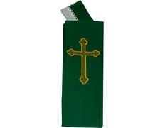 Estola con Cruz bordada | Cuatro colores verde