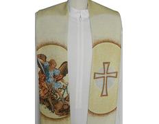 Estola con bordado de San Miguel Arcángel