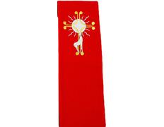 Estolón de poliéster con el cordero bordado rojo