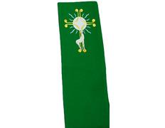 Estolón de poliéster con el cordero bordado verde