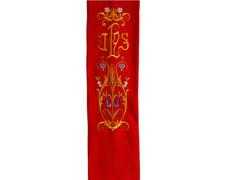 Estolón de terlenka con bordado doble especial de JHS rojo