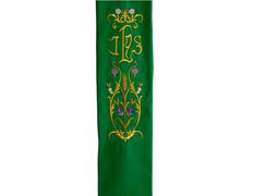 Estolón de terlenka con bordado doble especial de JHS verde