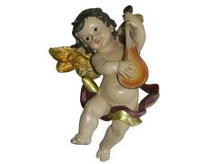 Ángel con mandolina fabricado en marmolina