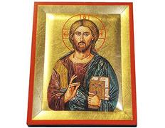 Icono bizantino Cristo Pantocrátor | 13 x 10,5 cm.