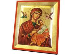 Icono bizantino Perpetuo Socorro | 13 x 10,5 cm.