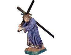 Jesús Nazareno con Cruz y túnica morada