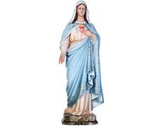 Inmaculado Corazón de María con vestido azul