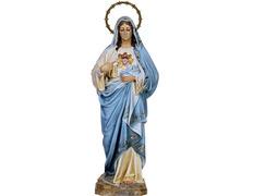 Sagrado Corazón de María con vestido azul y blanco