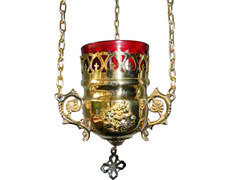 Lámpara del Santísimo con aplique de pared dorado