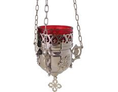 Lámpara del Santísimo con aplique de pared plateado