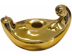 Lámpara de porcelana con baño de oro