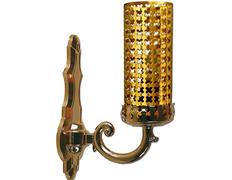 Lámpara del Santísimo eléctrica fabricada en metal dorado