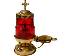 Lámpara del Santísimo eléctrica con 17 cm. de altura