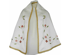 Manto de raso para figura de la Virgen María