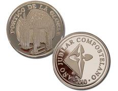 Moneda de plata recuerdo del Pórtico de la Gloria