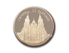 Moneda con baño de plata - Catedral de Santiago