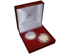 Par monedas de plata de Santiago de Compostela