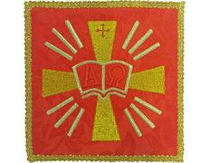 Palia bordado Alfa y Omega | Conjuntos de Altar rojo