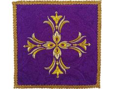 Palia bordado Cruz | Paños de altar morado