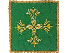 Palia bordado Cruz | Paños de altar verde