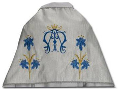 Paño de hombros con insignia mariana (AM)