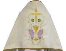 Paño de hombros en poliéster con bordados litúrgicos