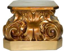 Peana de pasta madera dorado