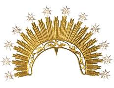 Diadema troquelada con rayos y estrellas