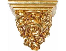 Peana para colgar fabricada en pasta madera dorado