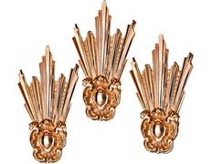 Potencias fabricadas en bronce baño de oro