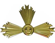 Rayo estampado de metal dorado